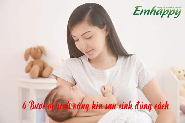 6 Bước vệ sinh vùng kín sau sinh đúng cách, [Sinh Thường]